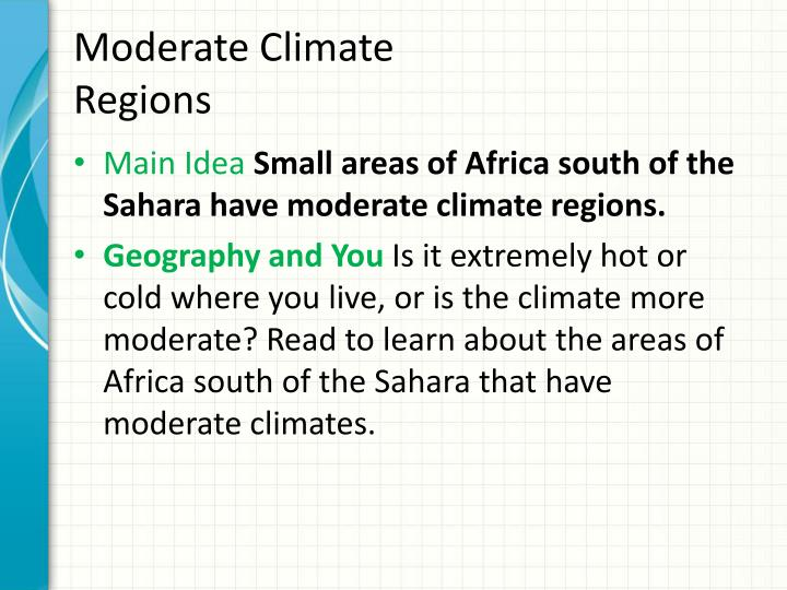 Moderate Climate