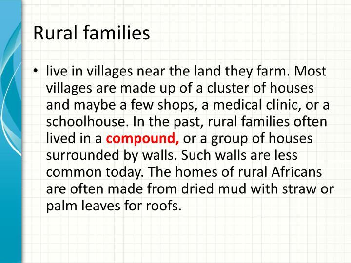 Rural families
