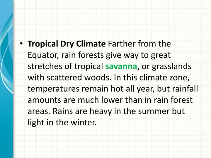 Tropical Dry Climate
