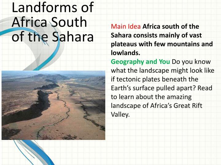 Landforms of