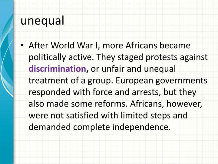 unequal