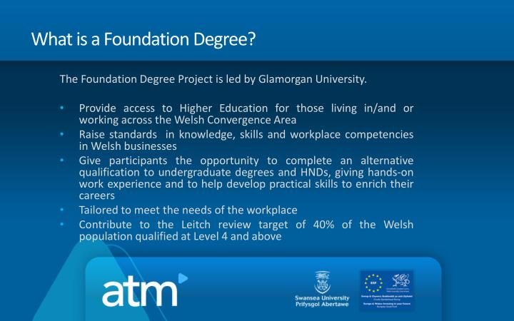 What is a Foundation Degree?