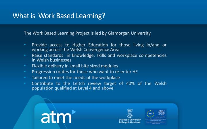 What is  Work Based Learning?