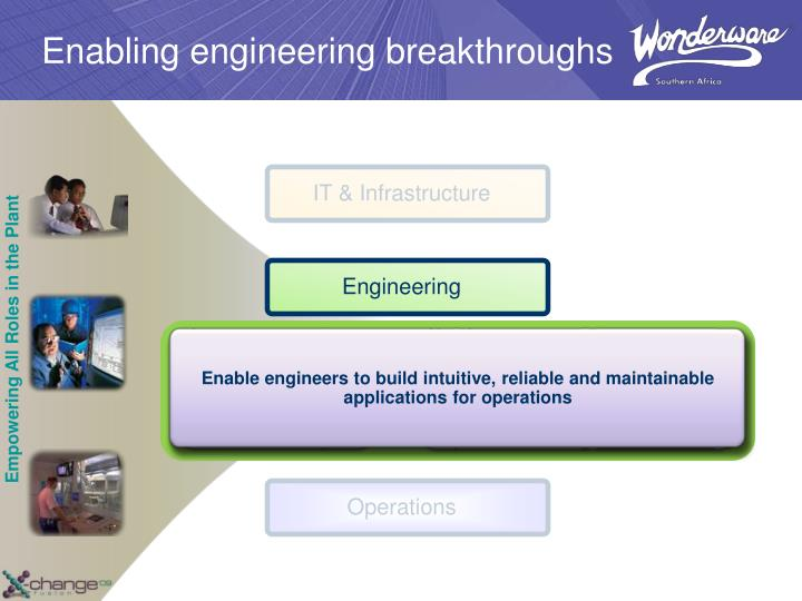 Enable engineers to build intuitive, reliable and maintainable applications for operations