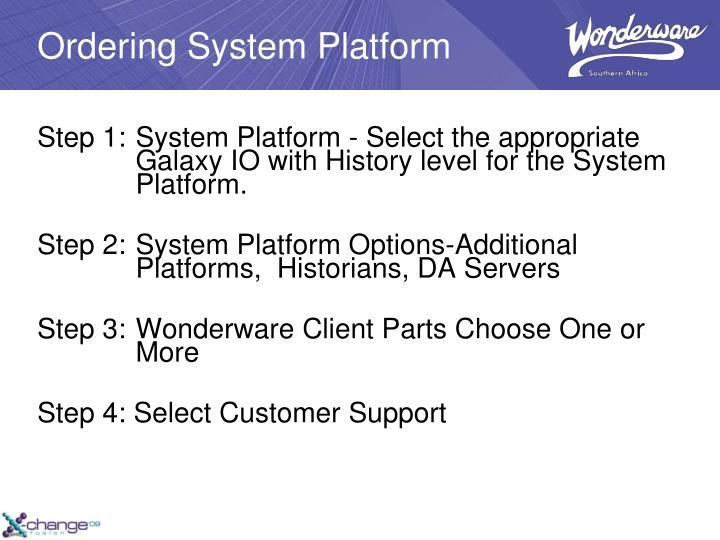 Ordering System Platform