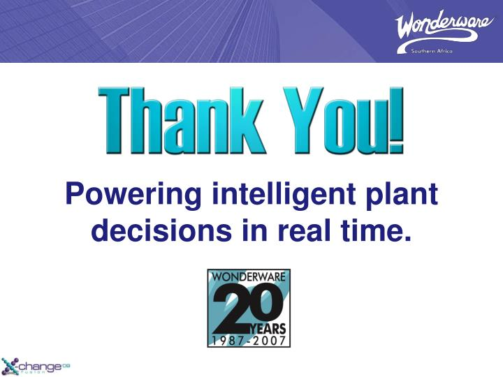 Powering intelligent plant decisions in real time.