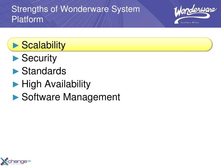 Strengths of Wonderware System Platform