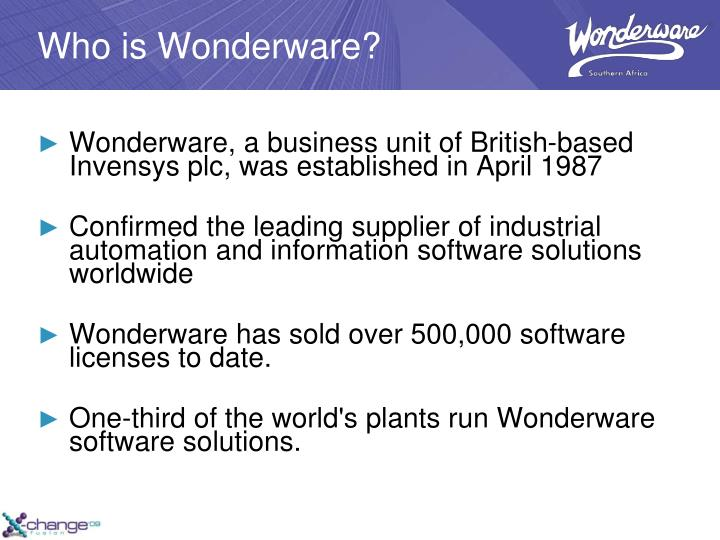 Who is Wonderware?