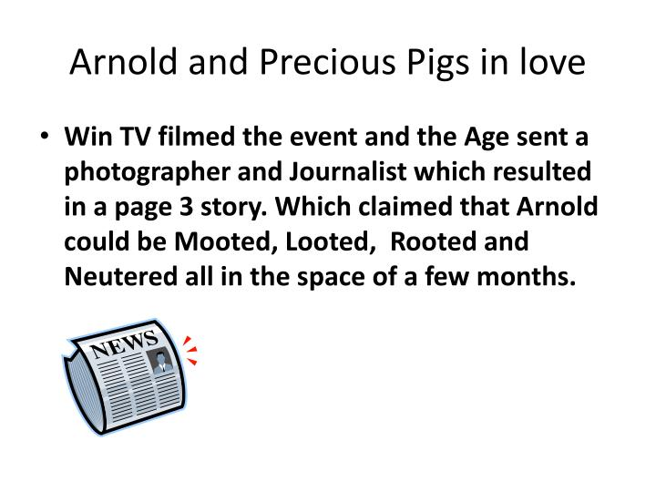 Arnold and Precious Pigs in love