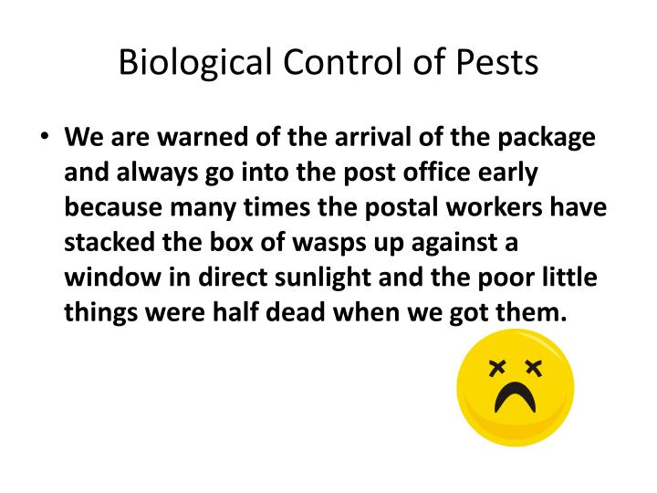 Biological Control of Pests