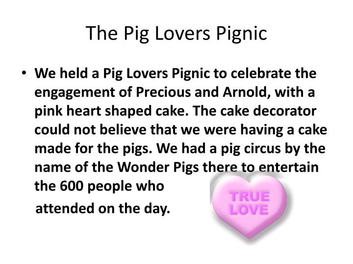 The Pig Lovers