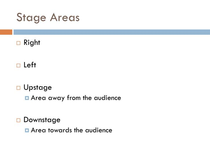 Stage Areas