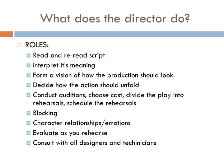 What does the director do?