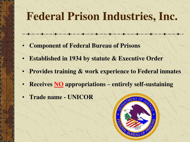 Federal prison industries inc