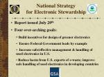 national strategy for electronic stewardship1