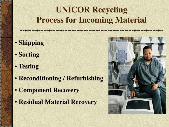 UNICOR Recycling