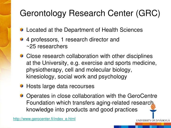 Gerontology Research Center (GRC)