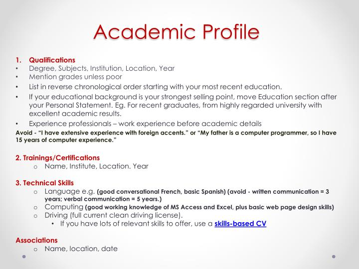 Academic Profile