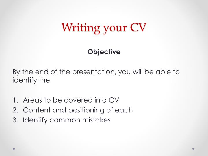 Writing your CV