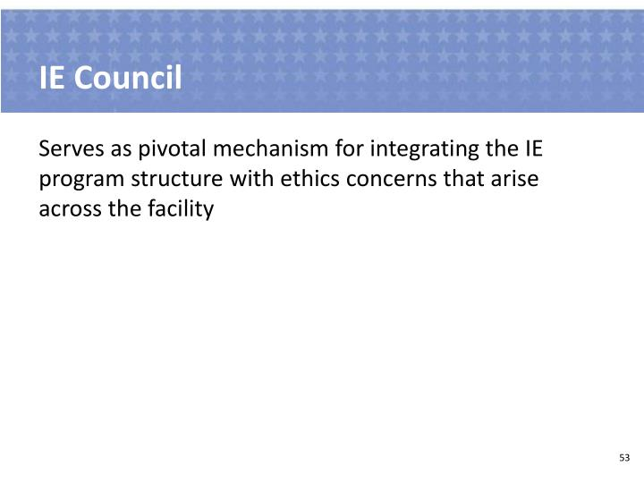 IE Council
