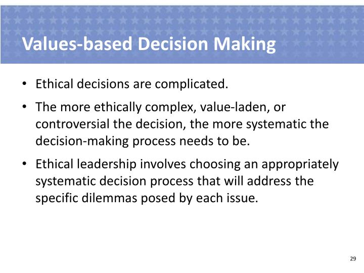 Values-based Decision Making