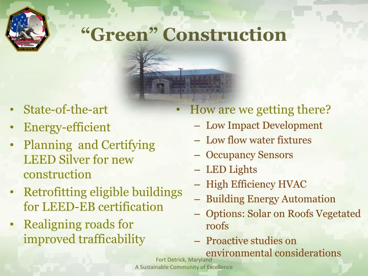 """Green"" Construction"
