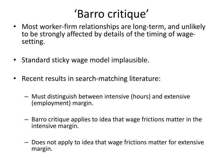 'Barro critique'
