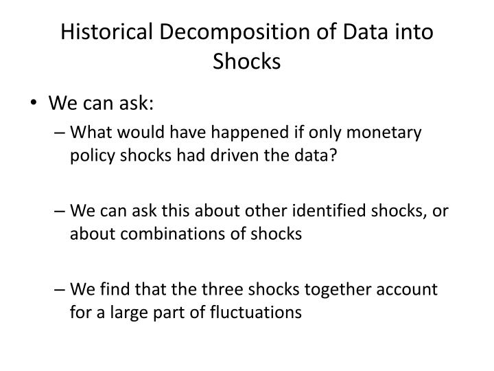 Historical Decomposition of Data into Shocks