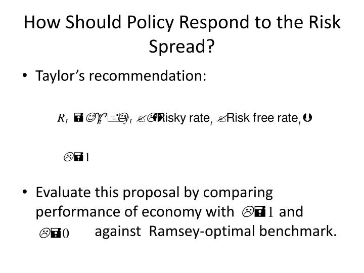 How Should Policy Respond to the Risk Spread?
