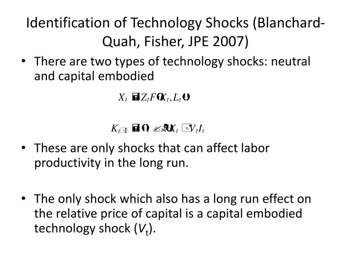 Identification of Technology Shocks (Blanchard-
