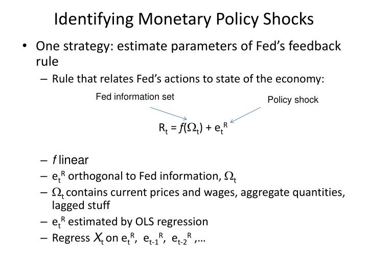 Identifying Monetary Policy Shocks