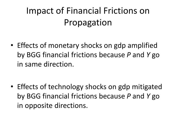 Impact of Financial Frictions on Propagation