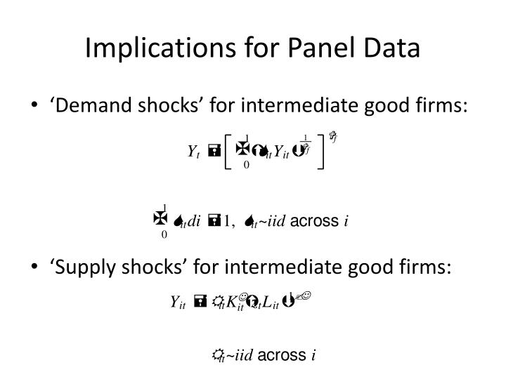 Implications for Panel Data
