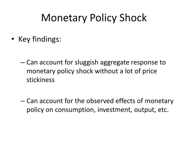 Monetary Policy Shock