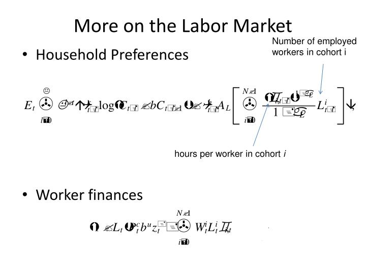 More on the Labor Market