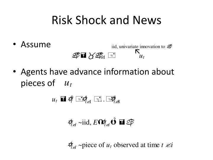 Risk Shock and News