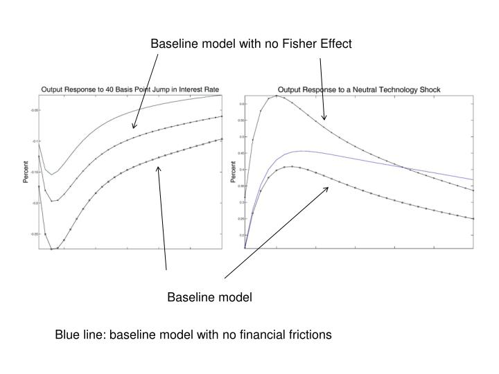 Baseline model with no Fisher Effect