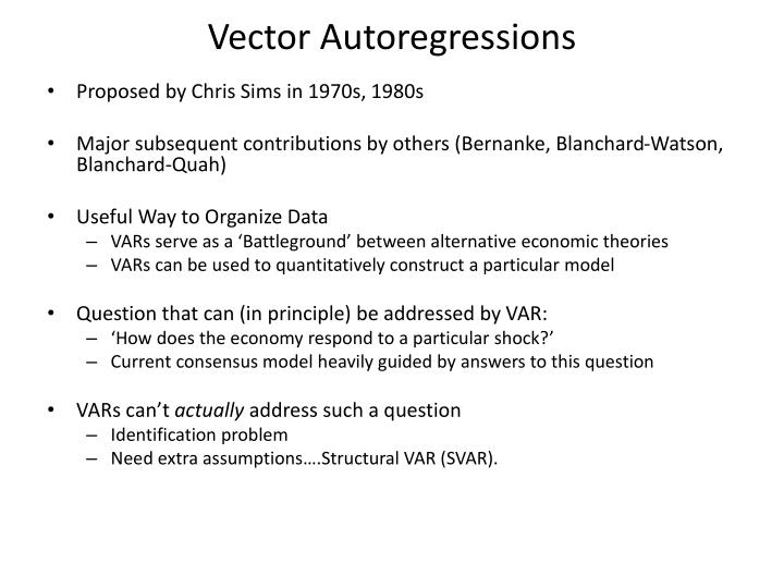 Vector autoregressions