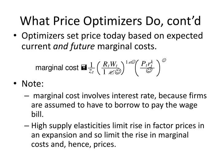 What Price Optimizers