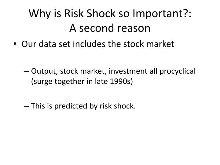 Why is Risk Shock so Important?:
