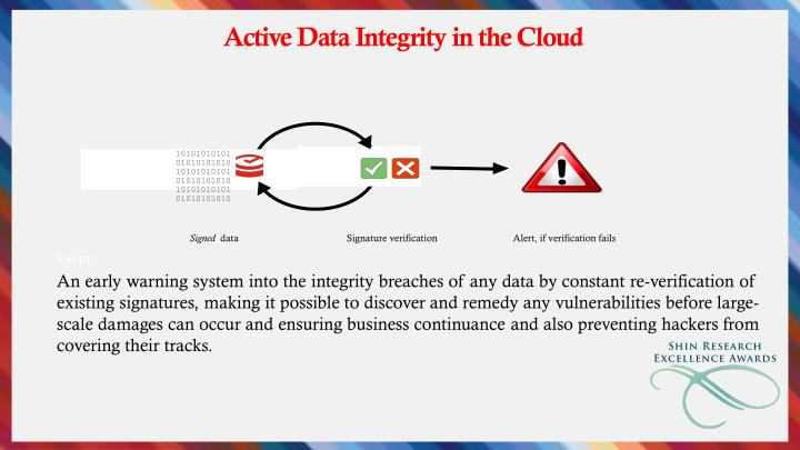 Active Data Integrity in the Cloud