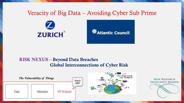 Veracity of Big Data – Avoiding Cyber Sub Prime