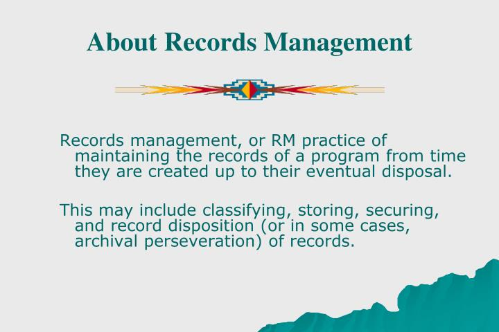 About Records Management