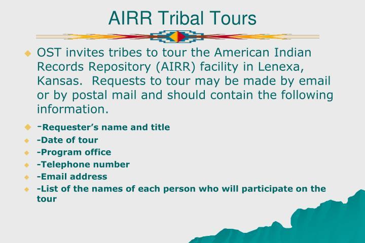 AIRR Tribal Tours