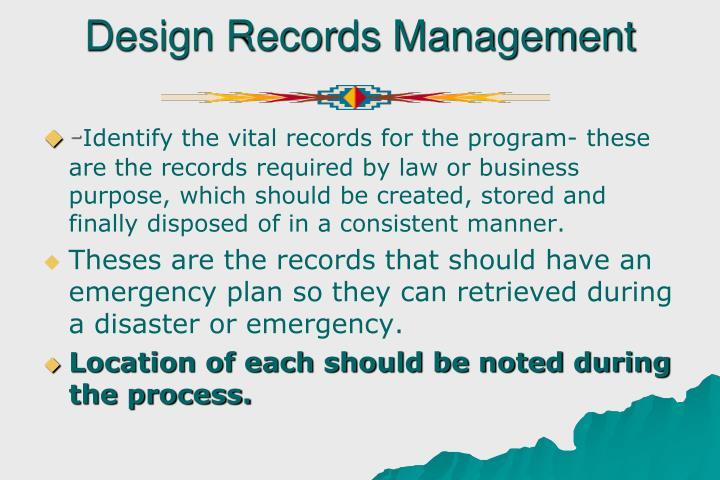 Design Records Management