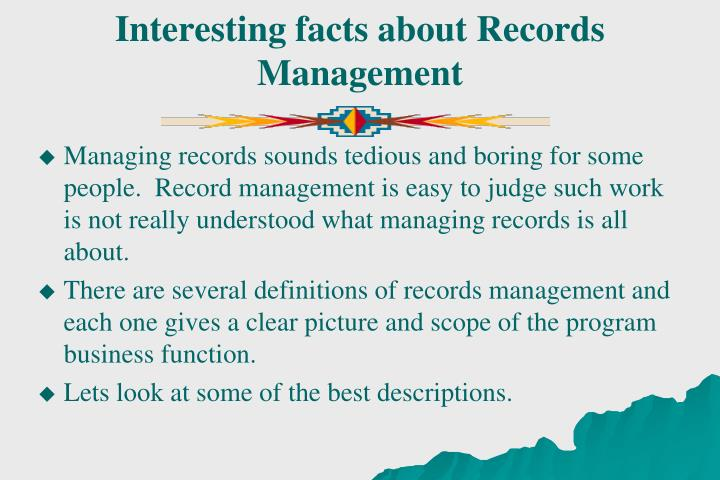 Interesting facts about Records Management