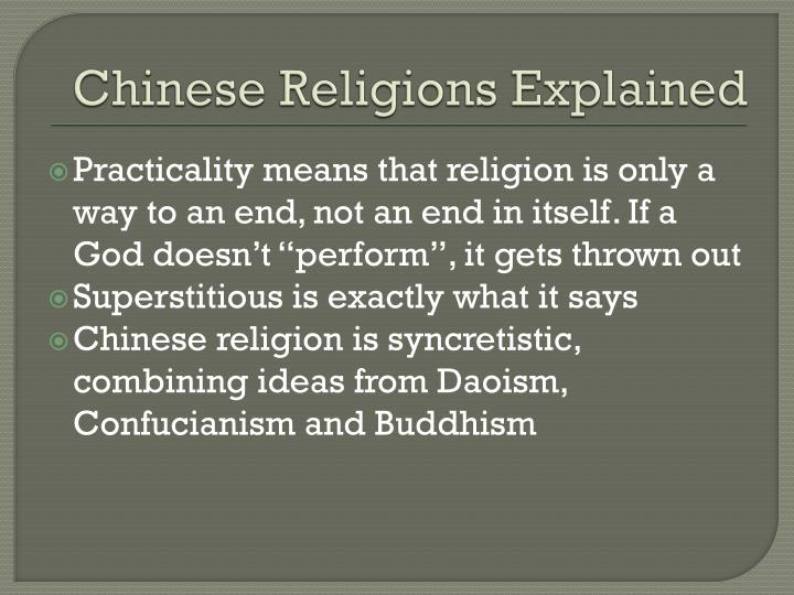 Chinese Religions Explained
