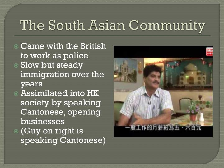 The South Asian Community