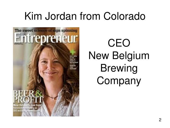 Kim Jordan from Colorado