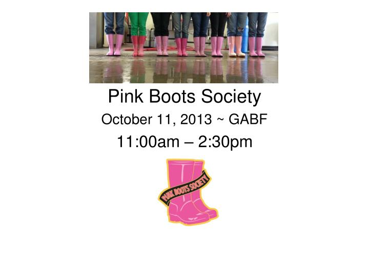 Pink boots society october 11 2013 gabf 11 00am 2 30pm